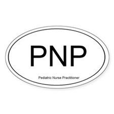 Pediatric Nurse Practitioner Oval Decal