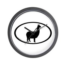alpaca oval Wall Clock