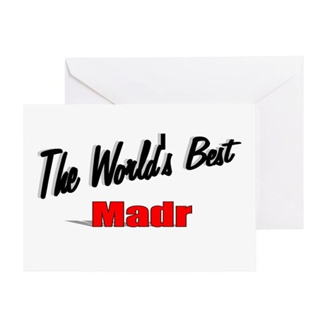 """The World's Best Madr"" Greeting Card"