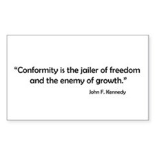 Conformity Rectangle Decal