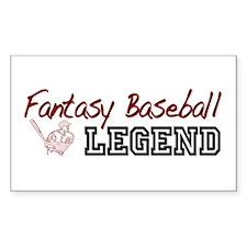 Fantasy Baseball Legend Rectangle Decal
