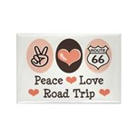 Peace Love Route 66 Road Trip Rectangle Magnet (10