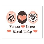 Peace Love Route 66 Road Trip Small Poster