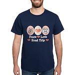Peace Love Route 66 Road Trip Dark T-Shirt