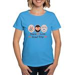 Peace Love Route 66 Road Trip Women's Dark T-Shirt