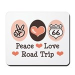 Peace Love Route 66 Road Trip Mousepad