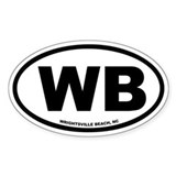 Wrightsville Beach, NC Euro Oval Decal