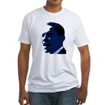 Obama Blue Portrait Fitted T-Shirt