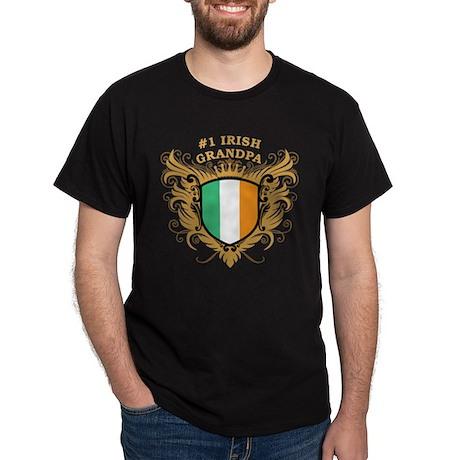 Number One Irish Grandpa Dark T-Shirt