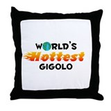 World's Hottest Gigolo (C) Throw Pillow