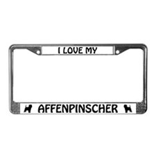 I Love My Affenpinscher License Plate Frame