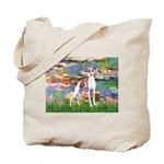 Lilies2/Italian Greyhound Tote Bag