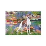 Lilies2/Italian Greyhound Rectangle Magnet (10 pac