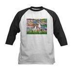 Lilies2/Italian Greyhound Kids Baseball Jersey