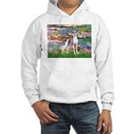 Lilies2/Italian Greyhound Hooded Sweatshirt