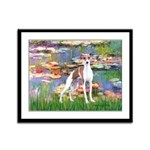 Lilies2/Italian Greyhound Framed Panel Print