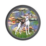 Lilies2/Italian Greyhound Wall Clock