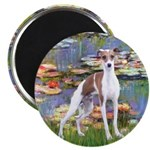 Lilies2/Italian Greyhound Magnet
