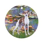 Lilies2/Italian Greyhound Ornament (Round)