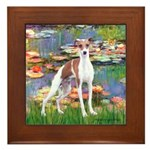 Lilies2/Italian Greyhound Framed Tile