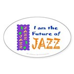 Future of Jazz Kids Oval Sticker