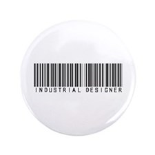 "Industrial Designer Barcode 3.5"" Button (100 pack)"