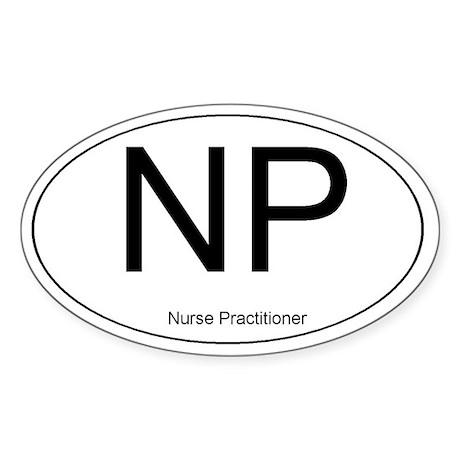 Nurse Practitioner Oval Sticker