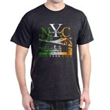 N.Y.C Skyline Irish Style T-Shirt
