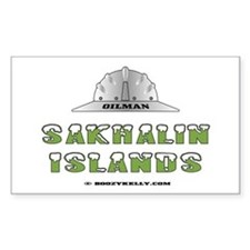 Sakhalin Islands Oilfields Rectangle Decal