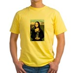 Mona Lisa / Chihuahua Yellow T-Shirt
