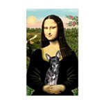 Mona Lisa / Chihuahua Sticker (Rectangle)
