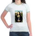 Mona Lisa / Chihuahua Jr. Ringer T-Shirt