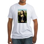 Mona Lisa / Chihuahua Fitted T-Shirt