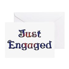 Just Engaged Greeting Card