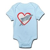Dolphin Heart Infant Bodysuit
