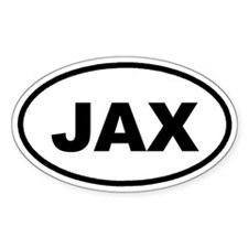 JAX Jacksonville Euro Oval Decal