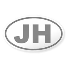 JH Jackson Hole, Wyoming Euro Oval Decal