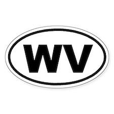 WV West Virginia Euro Oval Bumper Stickers