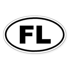 FL Florida Euro Oval Decal