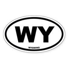 WY Wyoming Euro Oval Decal