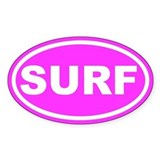 SURF Pink Euro Oval Decal