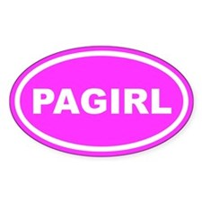PA GIRL Pennsylvania Pink Euro Oval Decal