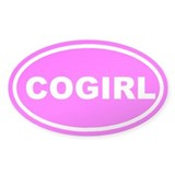 CO GIRL Colorado Pink Euro Oval Decal