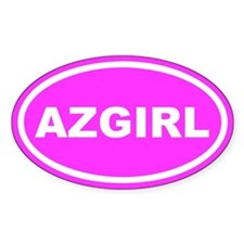 AZ GIRL Arizona Pink Euro Oval Decal