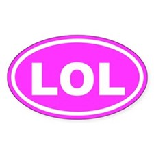 LOL Laughing Out Loud Euro Oval Decal