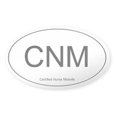 Nurse Midwife Oval Decal