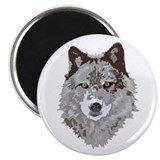 "Wolf Head 2.25"" Magnet (10 pack)"