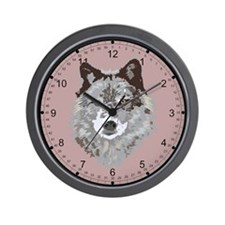 Wolf Head Wall Clock