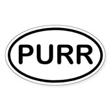 PURR Kitty Cat Euro Oval Decal