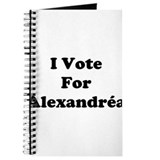 I Vote For Alexandrea Journal
